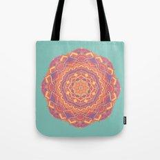 Pink Mandala Flower Tote Bag