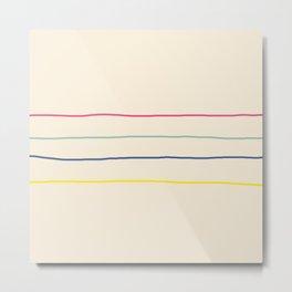 Abstract Retro Lines #1 Metal Print