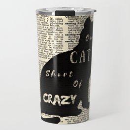 Crazy cat Travel Mug