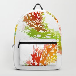 Abstract fractal flowers in rainbow colors Backpack