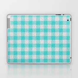 Medium Turquoise Buffalo Plaid Laptop & iPad Skin