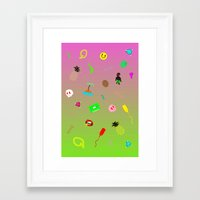 pinapple Framed Art Prints featuring pinapple by mrmimishop