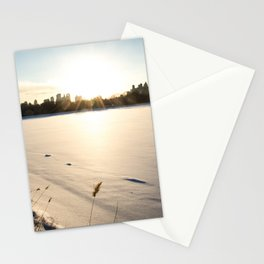 New York : The Snow, the Sun & The Skyline Stationery Cards