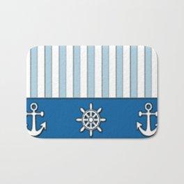 Nautical Stripes Bath Mat