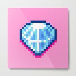 Pixel Diamond Metal Print
