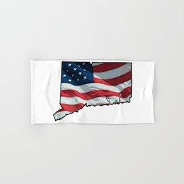 Patriotic Connecticut Hand & Bath Towel
