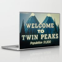 twin peaks Laptop & iPad Skins featuring Twin peaks by Catalin Chele
