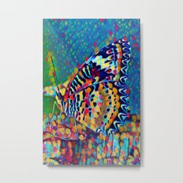 Butterfly Pizazz | Oil Painting  Metal Print