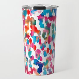 Rainbow Watercolor Travel Mug
