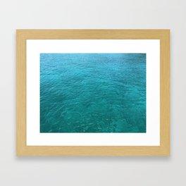 Mustique Sea Framed Art Print