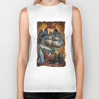 the goonies Biker Tanks featuring Goonies Never Say Die by Taylor Rose