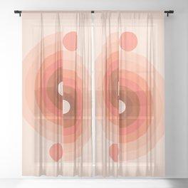 Abstraction_SUN_Rainbow_Beautiful_Day_Minimalism_001 Sheer Curtain
