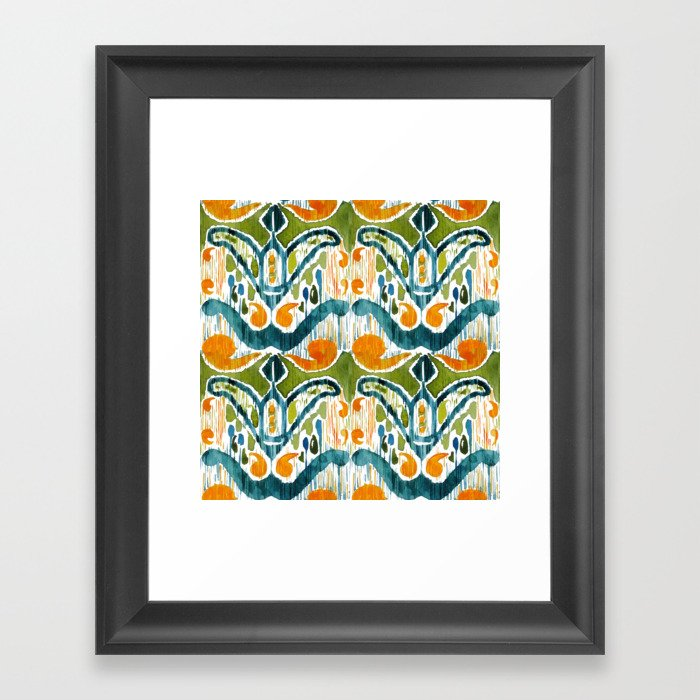 Balinese Pattern 22 Gerahmter Kunstdruck