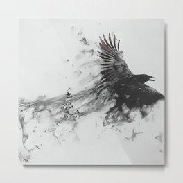 Smoke Crow Metal Print