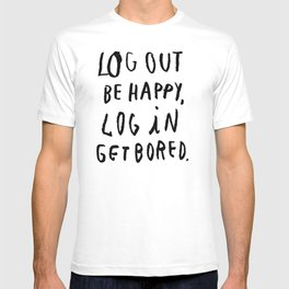 LOG OUT T-shirt