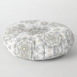 Openwork pattern on a white background. Floor Pillow