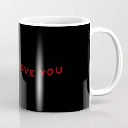 Modern Wavy Typographic I Think I Love You Coffee Mug