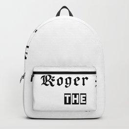 Roger federer,  the goat Backpack