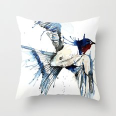 My Swallow Throw Pillow