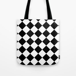 Diamond Black & White Tote Bag