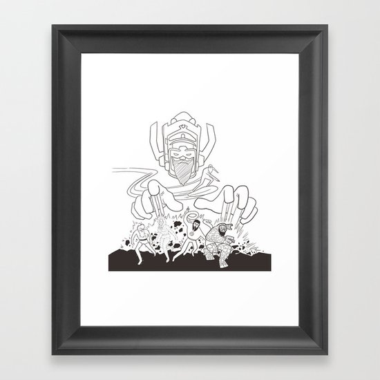Fantastic Beards Framed Art Print