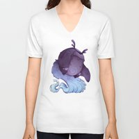 depression V-neck T-shirts featuring Real Monsters- Depression by Zestydoesthings