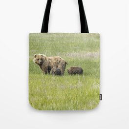 Mother Brown Bear With Her Two Cubs, No. 1 Tote Bag