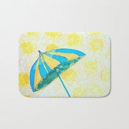 Yellow strips Bath Mat