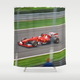 Fernando Alonso - 2013 Gran Premio d'Italia Shower Curtain