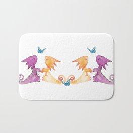 baby dragons and butterflies Bath Mat