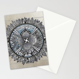 the south, she waits Stationery Cards