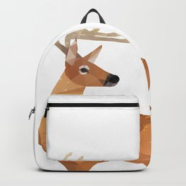 Low Poly White-tailed Deer Backpack