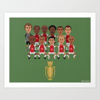 arsenal Art Prints featuring Arsenal Invincibles (squad) by 8bit Football