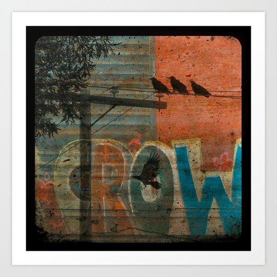 Crow train Art Print