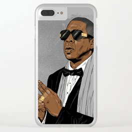 """Jay Z - """"Grey Hova"""" Clear iPhone Case"""