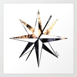 Compass Logo Sunset Art Print