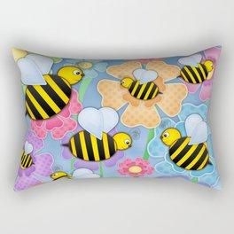 Busy Buzzers. Rectangular Pillow