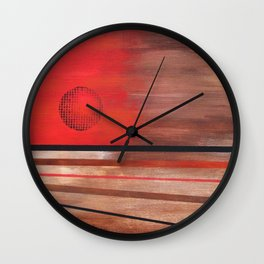 All Roads Lead to Nowhere Under the Sun Wall Clock