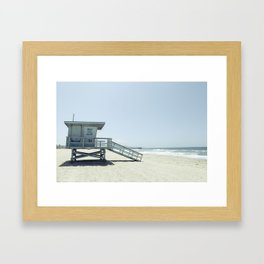 Hermosa Beach Lifeguard Tower 19 Framed Art Print