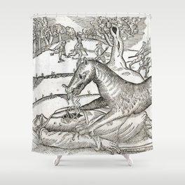 Beast of Cinglais 1632 Shower Curtain