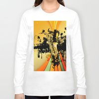 saxophone Long Sleeve T-shirts featuring Saxophone by nicky2342