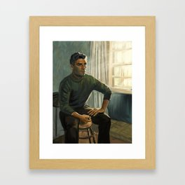 Oscar Isaac in Operation Finale Framed Art Print