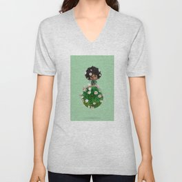 MY WORLD BY ERREGIRO Unisex V-Neck
