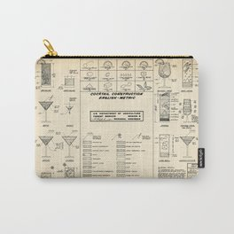 COCKTAIL CHART OLD Carry-All Pouch