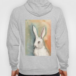 Portrait of a White Rabbit Hoody