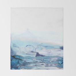 Indigo Abstract Painting | No.6 Throw Blanket