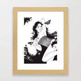 Black Nimf Framed Art Print