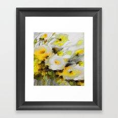 FLOWERS PAINTING Framed Art Print