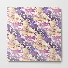 Beautiful Purple Pink and Gold Pattern Metal Print