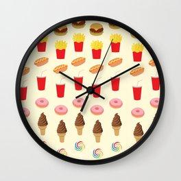 Celebration of Junk Foods Wall Clock